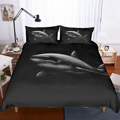 3D Black Cute Cat Quilt Cover Set Bedding Duvet Cover Double//Queen//King 3pcs 5