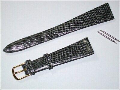 5670 Echt Leder Uhrenarmband Grau/gold Eidechse 16mm Breit 1,5mm Dick Supplement The Vital Energy And Nourish Yin