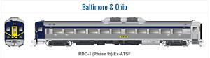 RAPIDO 1 87 HO BALTIMORE & OHIO RDC-1 PHASE Ib RD. DCC & SOUND 16604 F S