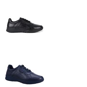 Mujer Hush Puppies Walker de cuero plano Atlético comodidad cotidiana Informal Zapatos