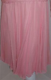 CEIL CHAPMAN 1960s Pink Chiffon Bodice Cocktail D… - image 9