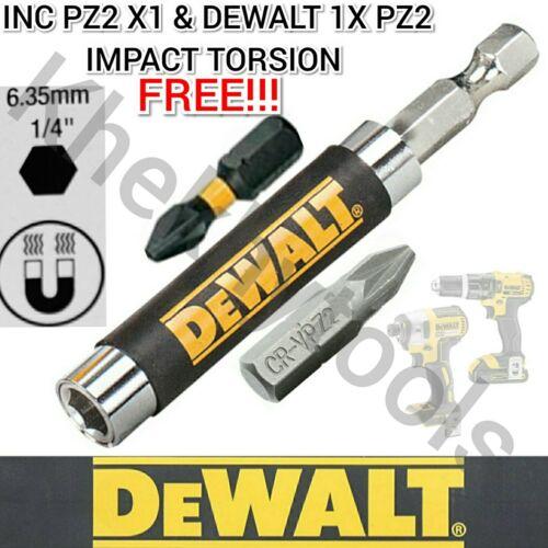 DEWALT DT7701 bit holder fits Bosch Makita Hitachi 1x PZ2+DewaltPZ2 Impact FREE
