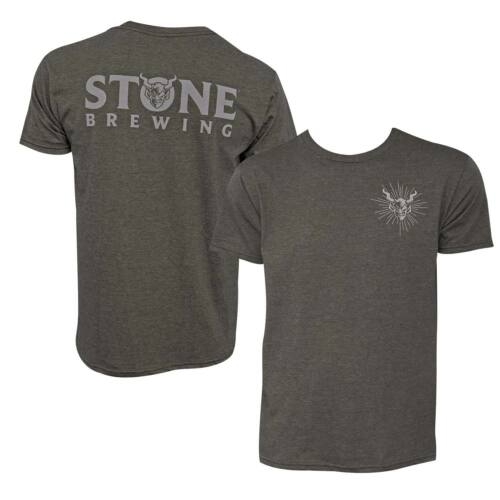 Stone Brewing Devil Logo Olive Men/'s Tee Shirt Green