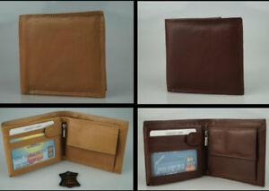 Herren-Geldboerse-Echt-Leder-Portmonee-Portemonnaie-Boerse-Geldbeutel-Brieftasche