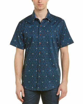 NEW Robert Graham Men/'s $178 CUTLASS Skull Print Short Sleeve Sports Shirt