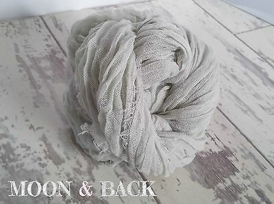 Hand Dyed Pale Grey Cheesecloth Newborn Baby Wrap cocoon Photography photo prop