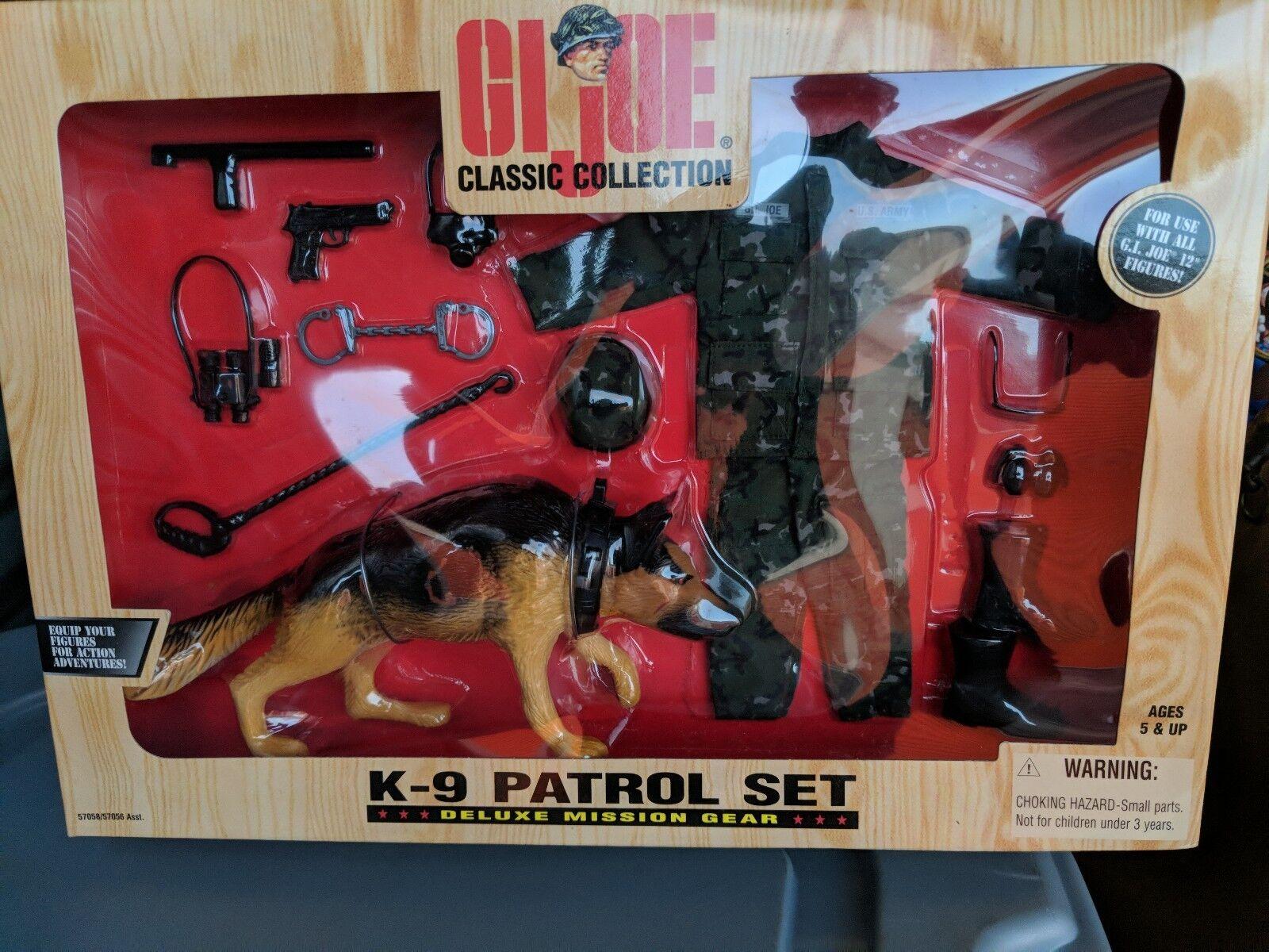 Hasbro spielzeug 12 zoll gi joe k - 9 - patrouille mission ausrüstung neue 1998