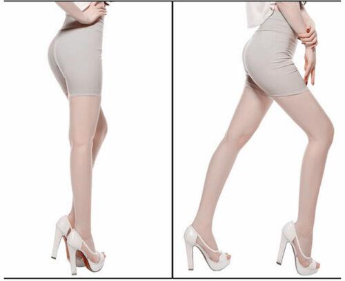 Ladies Women Short Plain Stretch High Waist Leggings Pants Render UK SIZE 6-14