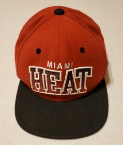 Miami Heat Hat Mitchell & Ness Adjustable Snapback Cap Red Basketball NBA