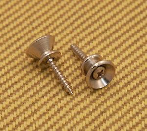NEW Genuine Fender Vintage Style Strap Buttons 099-4915-000 NICKEL
