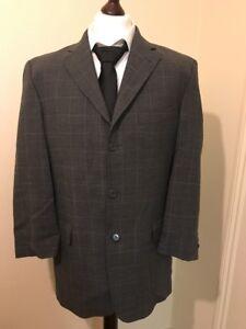 a7a586cae7f5 Daniel Hechter Mens Blazer Jacket Coat Size 40L Grey 100% Wool ...