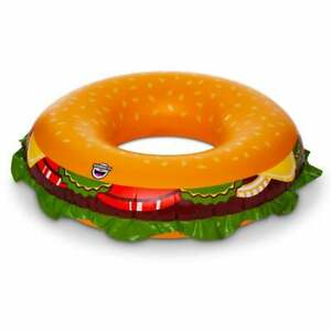 BigMouth-Inc-Cheeseburger-Pool-Float-Thick-Vinyl-Raft-Ages-8