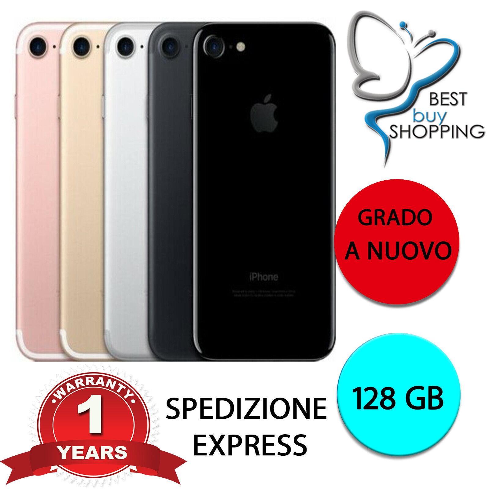 iPhone: IPHONE 7 RICONDIZIONATO A NUOVO 128 256 GB ORIGINALE APPLE NERO ORO ROSA SILVER