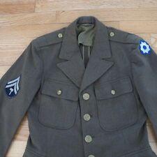 VINTAGE ORIGINAL WW2 UNIFORM US ARMY FIELD JACKET OD WOOL 8th SERVICE COMMANDE