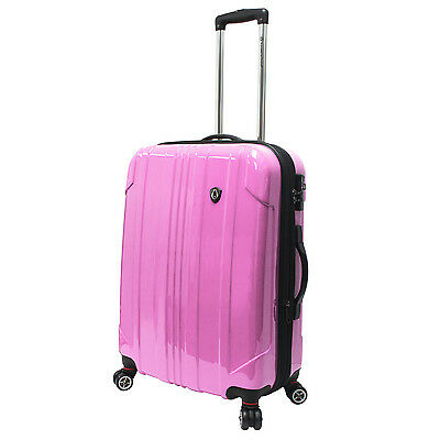 """Traveler's Choice 25"""" Pink Sedona Pure Polycarbonate Lightweight Spinner Luggage"""