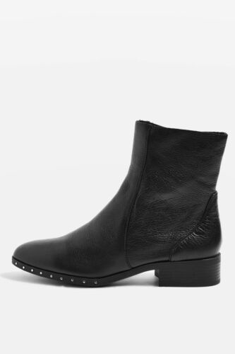 Bottines Eu 5 2 4 en 'kash' cuir 35 Us noir Nouveau Uk Topshop TxqRd80Tn