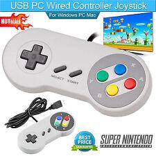 SNES Controller USB For PC/Mac Super Nintendo Games Retro Classic Gamepad US