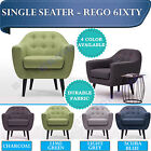 BRAND NEW 6ixty Retro Armchair Single Seater Couch Sofa Modern Premium Fabric