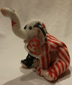 Image is loading Ty-Beanie-Babies-Righty-2000-red-white-and- 84607390a3f2