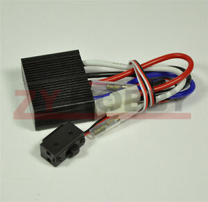 24V Two-way Electronic Brush ESC with Brake Stepless Speed Governor for RC Model