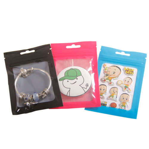 Resealable Plastic Zip Lock Bags Jewelry Crafts Gift Packing Pouches with Window