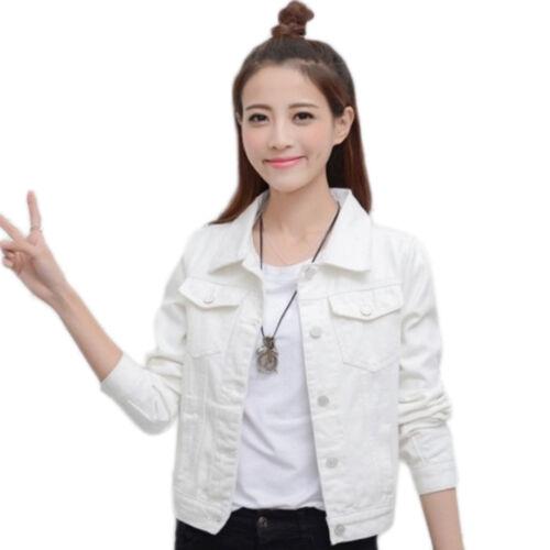 Denim Jeans Coat Slim Jackets Women Casual Long Sleeve Vintage Fashion Outwear