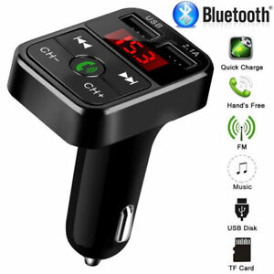 Bluetooth-Car-FM-Transmitter-Wireless-Radio-Adapter-USB-Charger-Mp3-Player