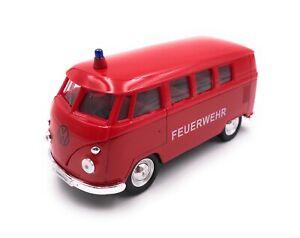 Modellino-Auto-T1-Pompieri-Bus-Rosso-Auto-Scala-1-3-4-39-Licenza