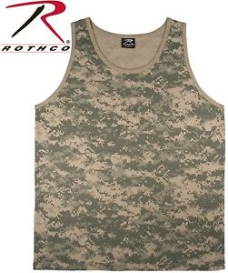 ece5016a079f24 Acu Digital Camouflage Army Tactical Military Top Army Camo Tank Top ...