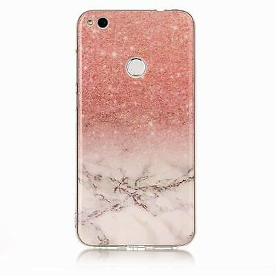 For Huawei P9 P8 P10 Lite Y5 Granite Marble Pattern Soft Rubber Phone Cover Case