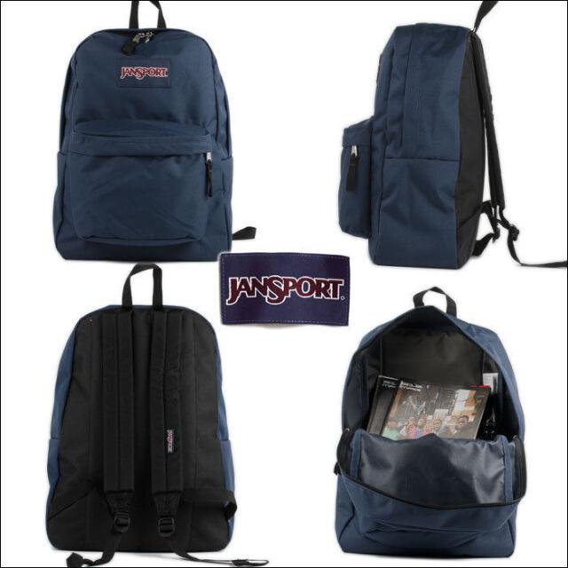 Jansport Superbreak Backpack Polyester Luggage Travel Blue