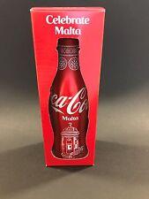 Coca Cola MALTA 2017 'Celebrate Malta' full aluminium bottle in gift box.