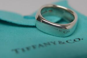 88afb8998 Tiffany & Co. Sterling Silver Size 6.5 Square Cushion Band Stacking ...