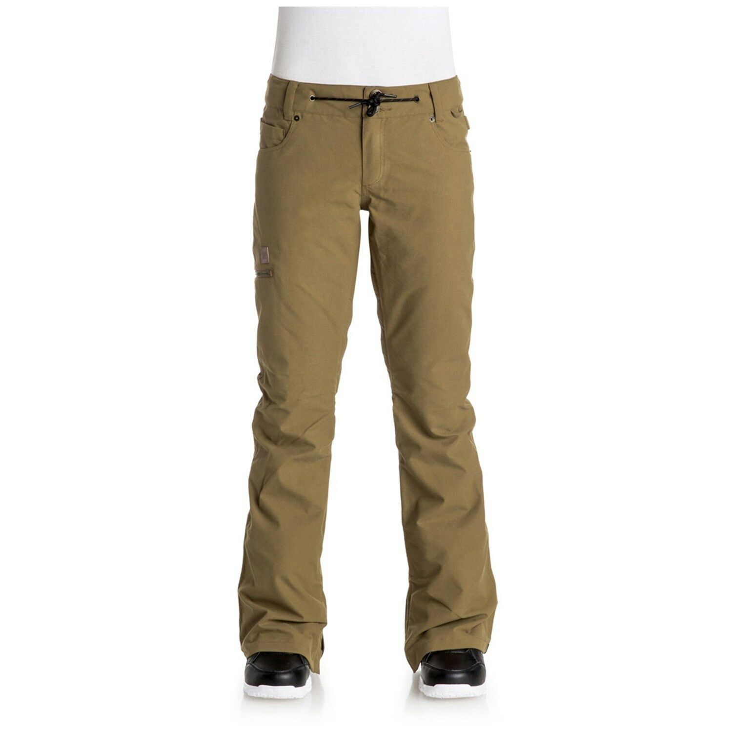 2017 NWT WOMENS DC VIVA SNOW PANTS  dull gold tailored fit 15k waterproof