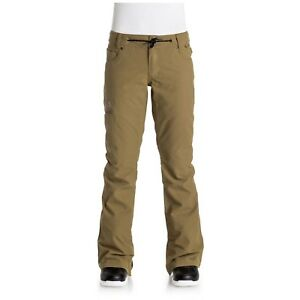 2017-NWT-WOMENS-DC-VIVA-SNOW-PANTS-dull-gold-tailored-fit-15k-waterproof