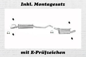 Tigra 1.2 1.4 1.6 Auspuff Endtopf Endschalldämpfer Opel Corsa B