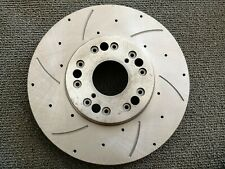 Left Power Stop JBR522XL Cross Drilled and Slotted Performance Brake Rotor