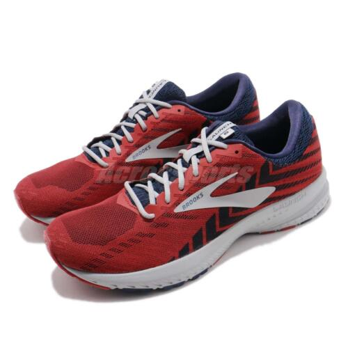 Brooks Launch 6 Cherry Navy Grey Men Running Training Shoes Sneakers 110297 1D
