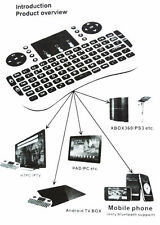 i8+ 2.4GHz Wireless keyboard Air Mouse Remote For Android Smart TV BOX MXQ White
