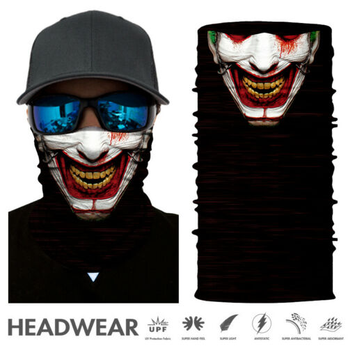 Skull Cycling Motorcycle Head Scarf Neck Warmer Face Ski Tube Balaclava Headband