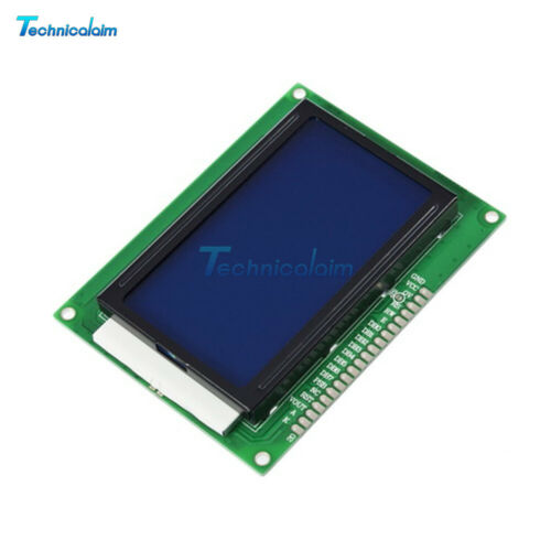 5V 12864 LCD Display Module 128x64 Dots Graphic Matrix LCD Blue Backlight
