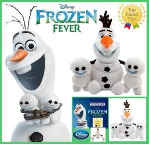 Disney-Store-Frozen-Fever-OLAF-amp-SNOWGIES-Plush-3-Doll-Bean-Bag-Bundle-Set-NEW