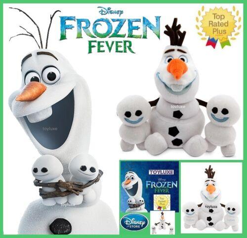 Disney Store Frozen Fever OLAF /& SNOWGIES Plush 3 Doll Bean Bag Bundle Set NEW !