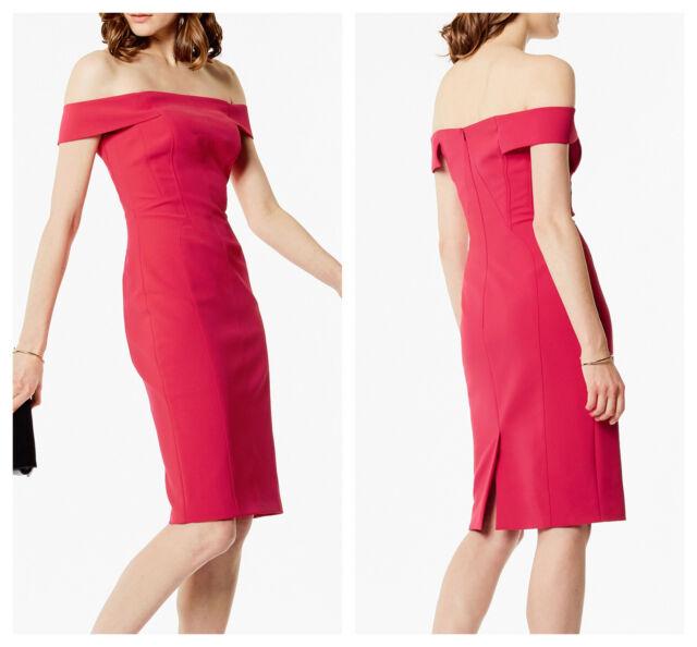 887ca5d83f7d New KAREN MILLEN Pink BNWT £180 Evening Party Bardot DC034 Dress UK 10 EU 38