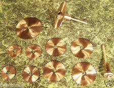 12 pc HSS SAW BLADE DISCS w/2 Holders Mini Hobby Blades dremel drill rotary tool