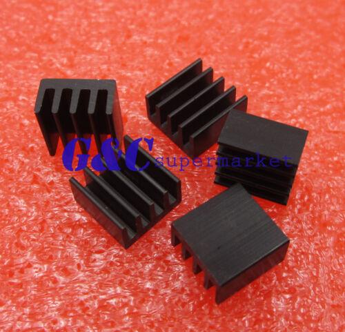 100PCS Heat sink 8.8x8.8x5mm High quality MINI HeatSink Color Black