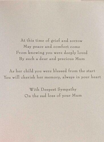Sympathie CARTE ~ perte de femme//perte de Mari//perte de maman//perte de papa