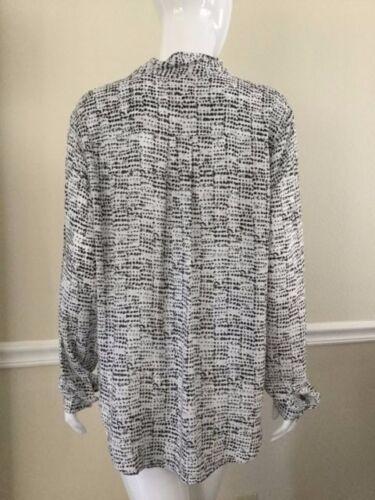 Manica Lunga Cravatta shirt T Stampa Bianco Szl Nuovo Stone Cloth PTqYAY
