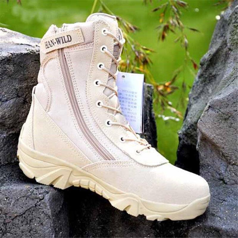 Men Army Tactical Boots Military Trekking Desert Combat Climbing Training Hiking
