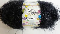 Yarn Bee Playful Fashion Yarn Knitting & Crochet Crafts Ebony Solid